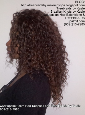 Tree Braids- Cornrows with Wavy human hair Left2301.