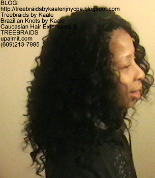 Tre Braids- with wavy human hair Right2250.