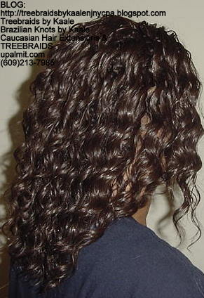 Tree Braids with wavy human hair Right303.