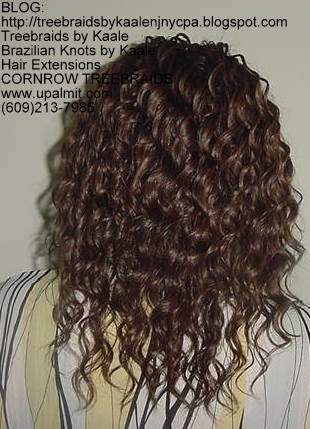 Tree Braids- Tree Braids- wavy human hair Back205.