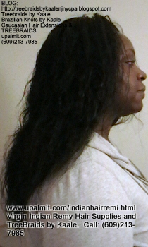 Tree Braids- Cornrows with Virgin Remy wavy human hair Right2370.