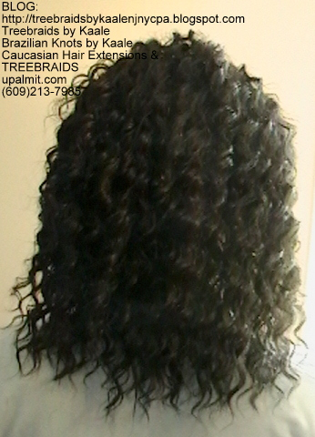 Tree Braids- Cornrows with Kaale brand human hair as sold on Amazon.com Back2380.