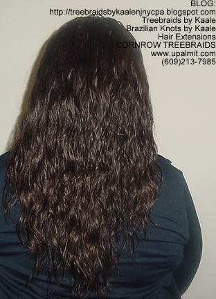 Cornrow Tree Braids Loose Wavy hair Back189.