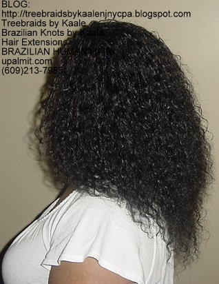 Virgin Brazilian curly human hair Treebraids Left215.