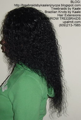 Cornrow Tree Braids Wet n wavy human hair Left178.