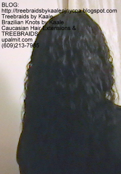 Tree Braids Cornrows, Wet and Wavy human hair- Back2294.