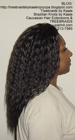 Tree Braids with KAALE Brand Wet n Wavy loose wave human hair Right356.