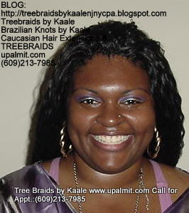 Tree Braids with KAALE human hair Front337.
