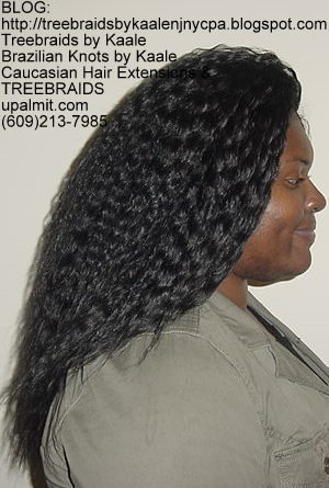 Tree Braids with Wet n Wavy KAALE Brand human hair Right324.