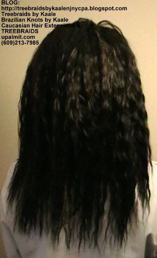 Tree Braids with KAALE Brand Wet n Wavy loose wave human hair Back350.