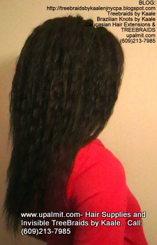Tree Braids- Cornrows with Wet n Wavy human hair, Right2334.