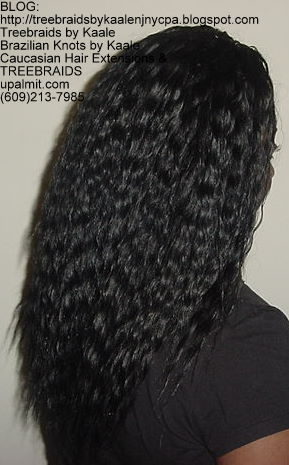 Tree Braids with Wet n Wavy KAALE Brand human hair Right320.