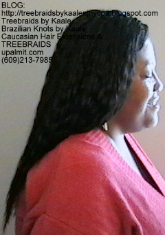 Tree Braids- with Wet n Wavy human hair Right2245.