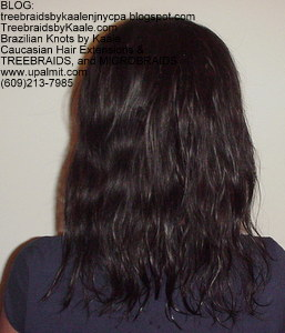 Tree Braids by Kaale used Loose Body Wavy pure Brazilian Remy hair Back31013.