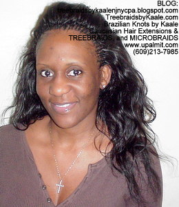 Tree Braids by Kaale- Small cornrow treebraids with virgin Brazilian real human hairFront.