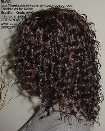 Cornrow Tree Braids Wet n wavy human hair Left182.