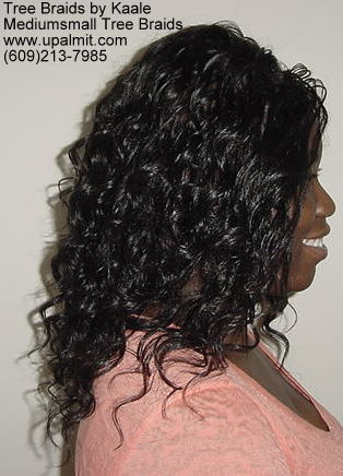 Wavy and curly tree braids.