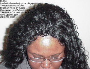 Tree Braids by Kaale- Cornrow treebraids with deep bulk hair Top.