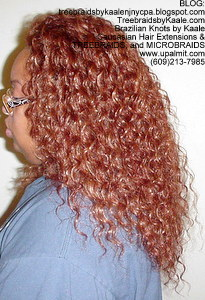 Tree Braids by Kaale- Cornrow treebraids with Invisible Hairline and deep bulk hair- Left.
