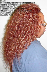 Tree Braids by Kaale- Cornrow treebraids with Invisible Hairline and deep bulk hair- Right.