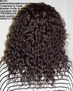 Tree Braids by Kaale- Cornrows with deep bulk hair An2 Back.
