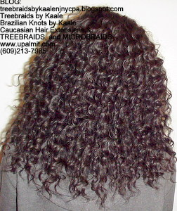 Tree Braids by Kaale- Cornrows with deep bulk hair Back.