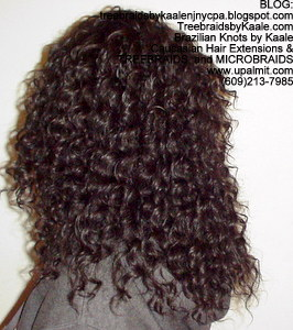 Tree Braids by Kaale- Cornrows with deep bulk hair Left.