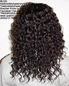 Tree Braids by Kaale- cornrows with deep bulk human hair Back2714.