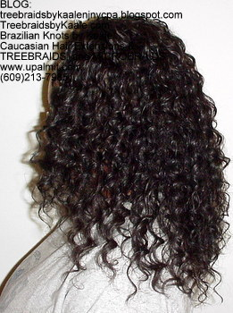 Tree Braids by Kaale- cornrows with deep bulk human hair Left2715.