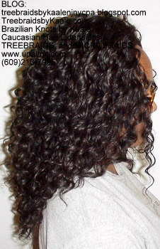 Tree Braids by Kaale- cornrows with deep bulk human hair Right2716.