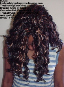 Tree Braids by Kaale, cornrow treebraids in curly A6Front2013.