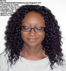 Tree Braids by Kaale- Cornrows with deep bulk hair Be Front.