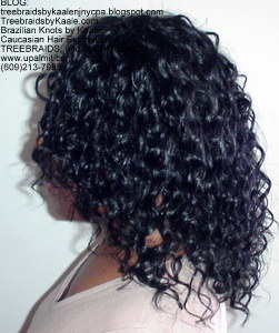 Tree Braids by Kaale- Cornrows with deep bulk hair Di3 Left.