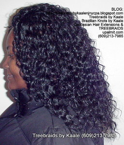 Tree Braids by Kaale- Cornrows with deep bulk hair Ma Left 1.
