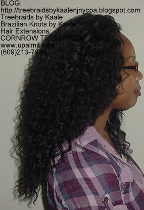 Tree Braids using KAALE Brand Deep Bulk human hair Right202.