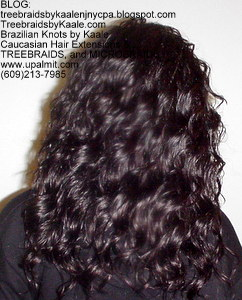Tree Braids by Kaale, individual treebraids with deep bulk hair Back2247.