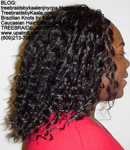 Tree Braids by Kaale- Traditional cornrow treebraids with Deep Bulk hair Right2712.