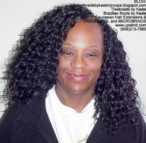 Tree Braids by Kaale- Cornrows with Straight human hair Back2746.