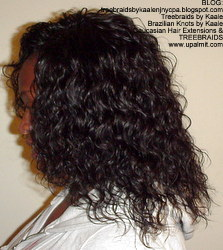 Tree Braids by Kaale- remy hair used for these cornrow treebraids with curly hair, Left 1.