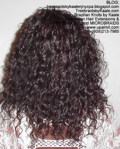 Tree Braids by Kaale using wet and wavy hair: back2286.