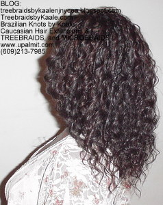 Tree Braids by Kaale using wet and wavy hair:left.