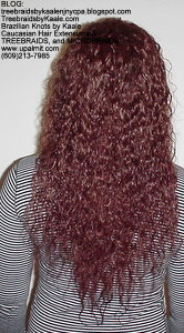 Tree Braids by Kaale- Individual treebraids with wet and wavy hair BackManualMix.