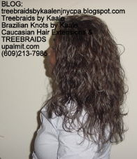Tree Braids- Loose Wavy human hair Left2227.