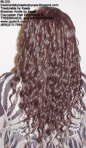Tree Braids by Kaale- Cornrows with loose deep hair Back6.