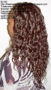 Tree Braids by Kaale- Cornrows with loose deep hair Left6.