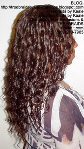 Tree Braids by Kaale- Cornrows with loose deep hair Right6.