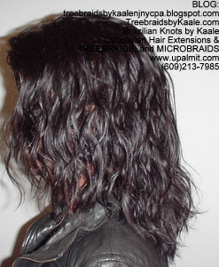 Tree Braids by Kaale- cornrow treebraids virgin Brazilian curly Remy hair, LeftTall.