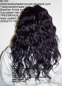 Tree Braids by Kaale- Cornrow treebraids with wavy hair Back7.