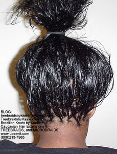 Tree Braids by Kaale- Indian remy hair in individual treebraids Bk2261.