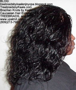 Tree Braids by Kaale- Indian remy hair in individual treebraids, Right.